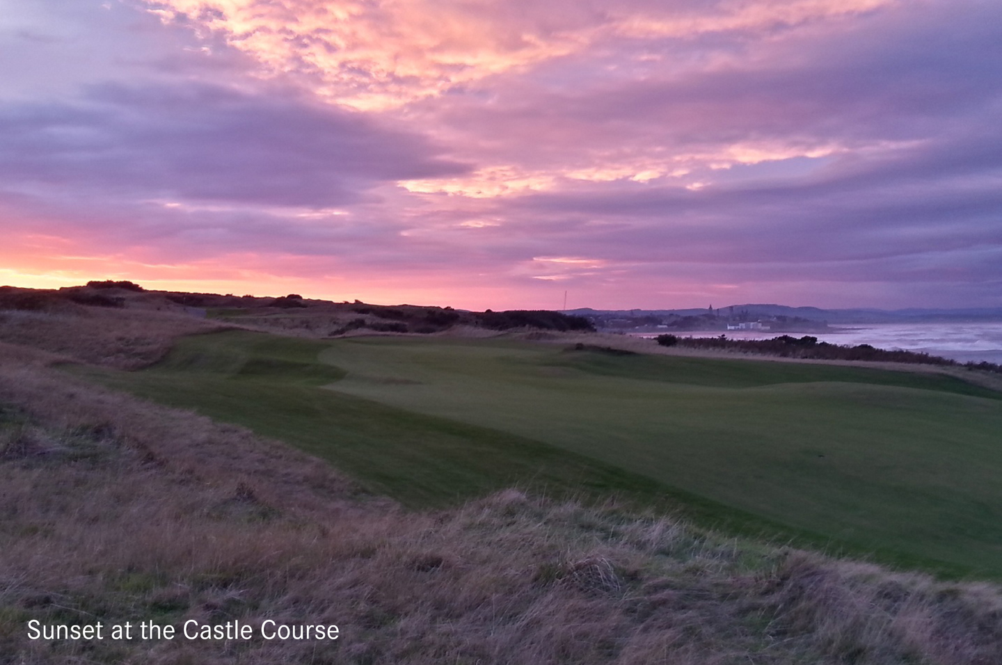 Sunset At Castle Course